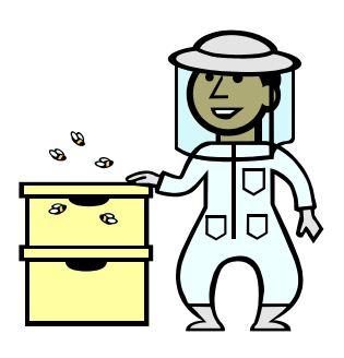 Bee-Keeper Clip Art