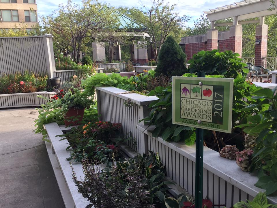 Brookdale Terrace Garden CEGA Award sign