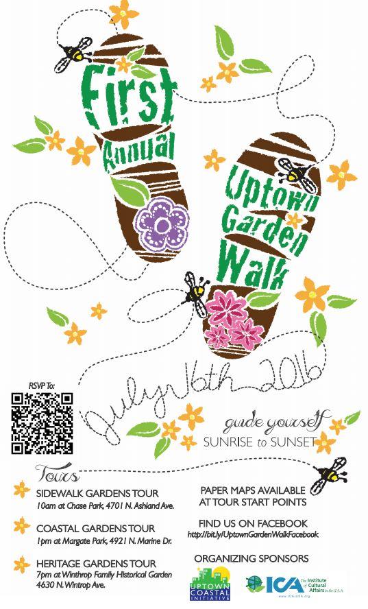 First Annual Uptown Garden Walk Saturday July 16 2016