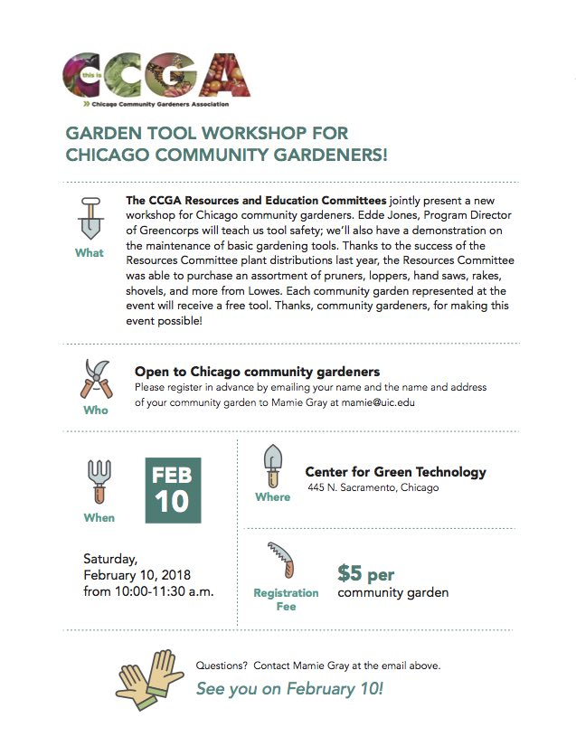 CCGA Tool Workshop Flyer 2/10/2018